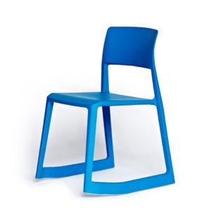 vitra, tip ton, krēsls, zils