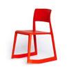 vitra, tip ton, krēsls, sarkans