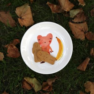 xcelsior, donna wilson, šķīvis, banāns, lācis