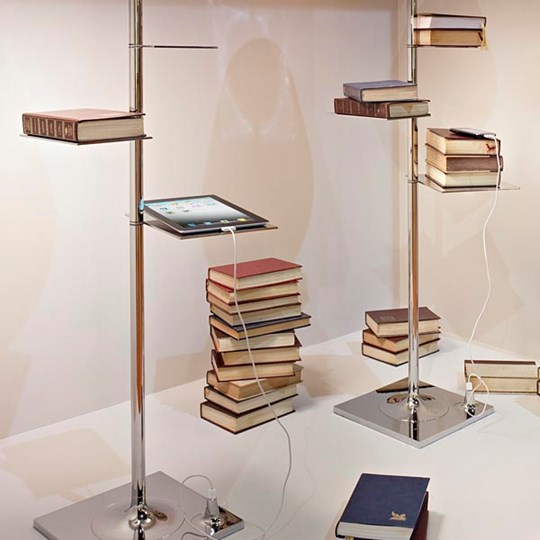 xcelsior, flos, philippe starck, bibliotheque nationale, dizaina lampa