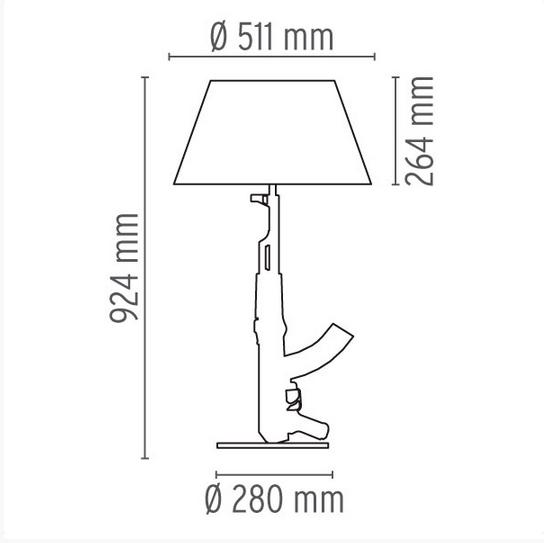 xcelsior, flos, philippe starck, dizaina lampa, gun lamp