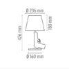 xcelsior, flos, philippe starck, dizaina lampa, gun lamp, galda lampa
