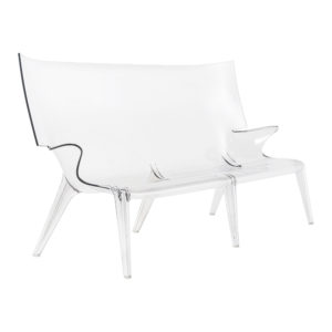 xcelsior, kartell, phillipe stark, krēsls, caurspīdīgs dīvāns