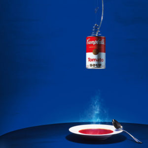 xcelsior, ingo maurer, canned light, campbells soup, dizaina lampa