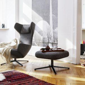 xcelsior, vitra, grand repos, ottoman, atpūtas krēsls