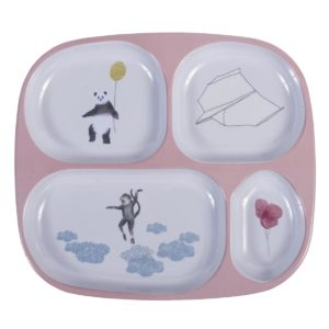 xcelsior, sebra, melamīna trauki, trauki bērniem, trauku komplekts, dāvana