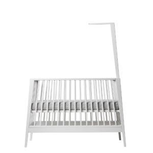 leander, baby bed, bērnu gultiņa, baldahīns