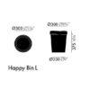 xcelsior, vitra, happy bin, atkritumu grozs, gružkaste
